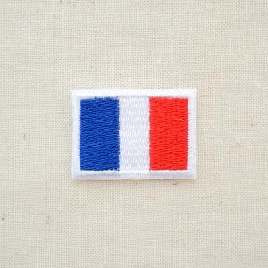 ミニワッペン フランス国旗 トリコロール(SSサイズ)|wappenstore