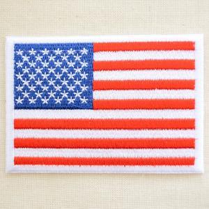 ワッペン USA アメリカ国旗/星条旗(スタンダード/ホワイトフレーム)|wappenstore