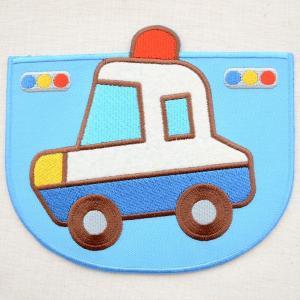 ポケット付ワッペン パトカー(働く車/ブルー) XP1000-XP02|wappenstore