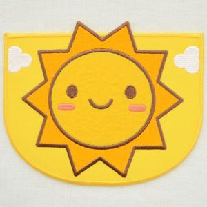ポケット付ワッペン 太陽(イエロー) XP1000-XP04|wappenstore