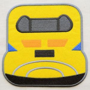 鉄道/電車 ポケット付トレインワッペン(923形ドクターイエロー) XP1000-XP12|wappenstore
