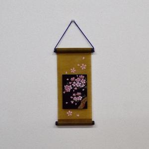 会津塗 ミニ短冊(タペストリー・壁掛け) 桜 日本のお土産会津のお土産 warabi