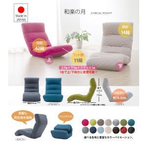 2タイプ・3ヶ所リクライニング付きチェアー 日本製  リクライニングフロアチェア 和楽の雲 3ヶ所リクライニング付き|waraku-neiro|02
