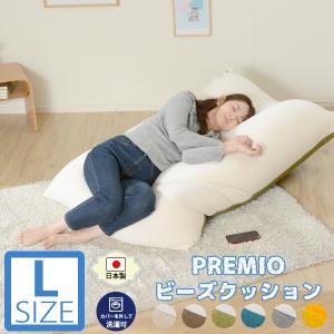 ビーズクッション 大きい 特大 Lサイズ リラックス 人をダメにするソファ 「和楽の葵PREMIO-L」 極小ビーズ A861 日本製 フロアチェアにも。  新生活 2021|waraku-neiro