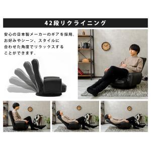 肘付低反発座椅子 1人掛け 座イス フロアチェア 座いす シンプル【送料無料】【herman】 waraku-neiro 06