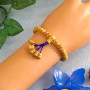 郵便発送可|腕輪数珠◆柘 無病念珠◆無病息災|waraku-store