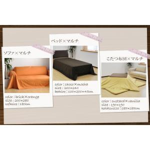 マルチカバー リバーシブル無地カラー マルチカバー 正方形大判:200×200cm 日本製 マルチクロス|waraoha|03