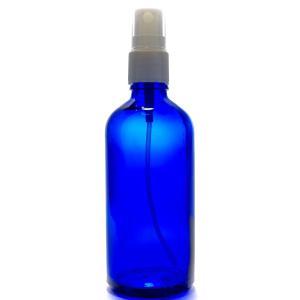 アロマ遮光瓶 100mL コバルト【ホワイトフィンガースプレー】の商品画像|ナビ
