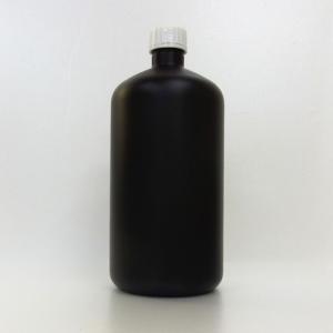 プラスチック容器 1L 遮光黒 封印キャップ|warmeburo