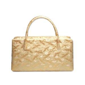 【留袖用】西陣織金襴オリジナル和装バッグ「総柄 利休バック」me72|wasai-kobo
