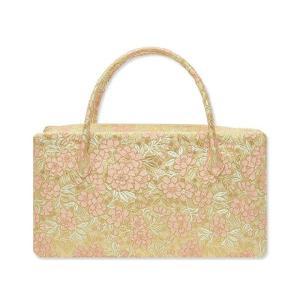 西陣織金襴オリジナル和装バッグ「総柄 利休バック」me120|wasai-kobo