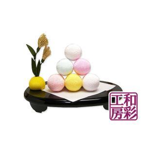 ちりめん細工「お月見/お団子とすすき飾り」 リュウコドウ 和雑貨 置物|wasai-kobo