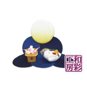 ちりめん「月几帳 楽しいお月見」 リュウコドウ 和雑貨 置物|wasai-kobo