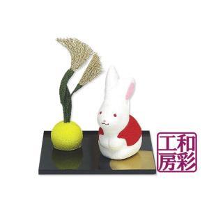 ちりめん細工「うさ子とすすき」 リュウコドウ 和雑貨 置物|wasai-kobo