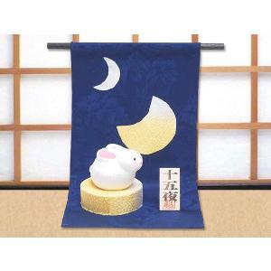 ちりめん細工「月の満ち欠けとうさぎ」 リュウコドウ 和雑貨 置物|wasai-kobo