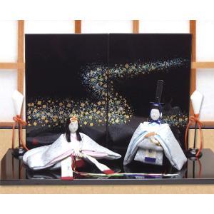 雛人形 ひな人形「友禅ちりめん極上凛音雛」rh154 コンパクト 収納/リュウコドウ|wasai-kobo