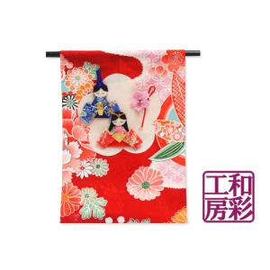 ちりめん押絵ミニ几帳「ひな祭り」|wasai-kobo