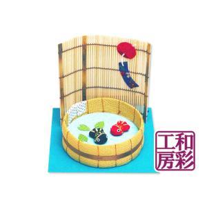 ちりめん細工「たらいの金魚」 リュウコドウ 和雑貨 置物|wasai-kobo