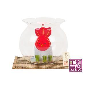 ゆらゆらソーラー「しっぽ振り振り金魚」 リュウコドウ 和雑貨 置物|wasai-kobo