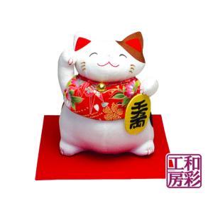 和ぐるみ福猫「前掛け金運招き猫」|wasai-kobo