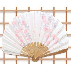 【京都 松祷庵】特選!扇子(扇子袋付)「蛤扇子 はんなり/桜:ピンク」ua274|wasai-kobo