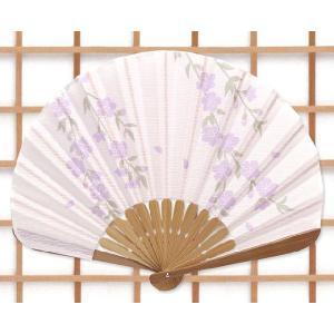 【京都 松祷庵】特選!扇子(扇子袋付)「蛤扇子 はんなり/桜:紫」ua275|wasai-kobo
