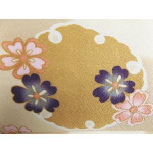 軽装帯 作り帯 付け帯 着物 簡単 お太鼓結び 薄茶きなり市松地雪輪桜|wasakura-an|04