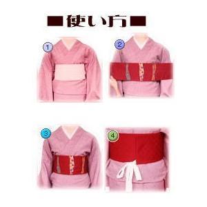 着物 袷 洗える 軽装帯 付け帯 セット 薄茶きなり市松地 雪輪桜 M L|wasakura-an|05