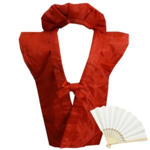 ちゃんちゃんこ 赤い 赤色 還暦祝い 綿入 3点セット 頭巾 白扇子 長寿御祝いの栞 化粧箱入り
