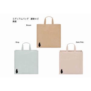 C-WASAMON ミディアムバッグ グレー 灰色 ブラウン 茶色 ダークピンク くまモン 和紙 丈夫 軽い エコ プレゼント ギフト マイバッグ かばん|wasamon
