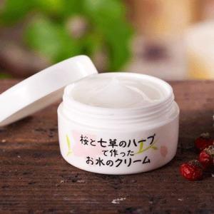 桜と七草のハーブで作ったお水のクリーム|waseda