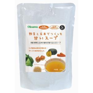 野菜と玄米でつくった甘いスープ|waseda