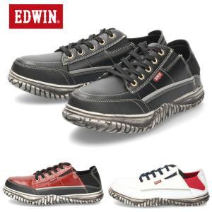 エドウィン EDWIN ESM-104 スニーカー メンズ ローカット カジュアル シューズ ブラッ...