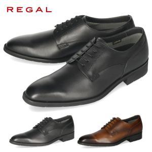 リーガル REGAL 靴 メンズ ビジネスシューズ 34HRBB ブラウン プレーントゥ 外羽根式 ...