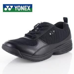 YONEX ヨネックス 靴 SHW-MC89 パワークッション ウォーキング シューズ 3.5E 幅広 メッシュ ブラック メンズ|washington