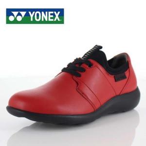 YONEX ヨネックス 靴 LC99 パワークッション ウォーキング シューズ 3.5E 3E 幅広 本革 牛革 赤 レッド レディース washington