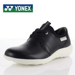 YONEX ヨネックス 靴 MC99 パワークッション ウォーキング シューズ 3.5E 3E 幅広 本革 牛革 黒 ブラック レディース washington