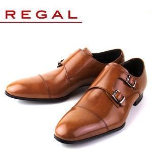 リーガル REGAL 靴 メンズ ビジネスシューズ 636R AL ブラウン ストレート ダブル モンクストラップ 紳士靴 日本製 2E 本革 特典B|washington