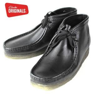 クラークス メンズ Clarks Wallabee Boot 455E ワラビー ブーツ ブラックレザー 正規品