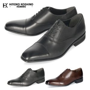 ビジネスシューズ 本革 ストレートチップ 3E ビジネス 革靴 紳士靴 メンズ 黒 ブラック ヒロコ コシノ HK128 HIROKO KOSHINO HOMME|Parade ワシントン靴店