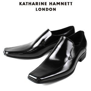 KATHARINE HAMNETT LONDON キャサリンハムネット 3946 BK メンズ 本革 ドレスシューズ ビジネス スワールトゥ スリッポン washington