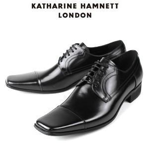 KATHARINE HAMNETT LONDON キャサリンハムネット 3947 BK メンズ 本革 ドレスシューズ ビジネス 外羽根ストレートチップ washington