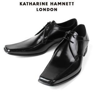 KATHARINE HAMNETT LONDON キャサリンハムネット 3948 BK メンズ 本革 ドレスシューズ ビジネス 外羽根スワールトゥ washington