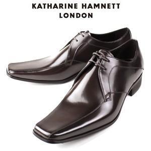 KATHARINE HAMNETT LONDON キャサリンハムネット 3948 DBR メンズ 本革 ドレスシューズ ビジネス 外羽根スワールトゥ washington
