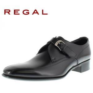 リーガル REGAL 靴 メンズ ビジネスシューズ 728R AL ブラック スワールモンク モンク...