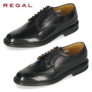 リーガル REGAL 靴 メンズ ビジネスシューズ  2504NA ブラック プレーントゥ 外羽根式...