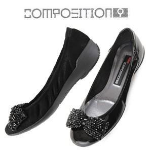 コンポジションナイン COMPOSITION9 靴 2263 コンフォートシューズ リボン バレエシューズ コンポジション9 レディース|Parade ワシントン靴店