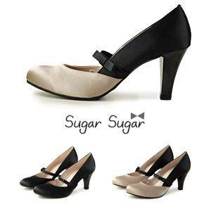 Sugar Sugar シュガーシュガー 7405 リボンベルト付き 切り替え パンプス パーティ フォーマル セール washington