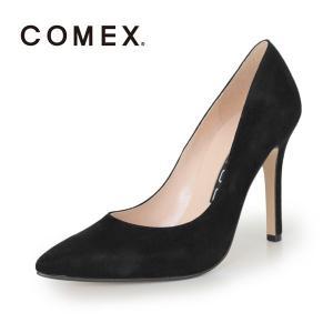 COMEX コメックス パンプス 靴 5500 (クロS) スエード ポインテッドトゥ ハイヒール 黒 本革 ピンヒール|washington