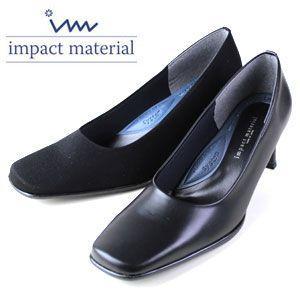 インパクトマテリアル impact material 1000 ムース 1300 ドークレ  レディース パンプス リクルート フォーマル ビジネス 黒パンプス washington